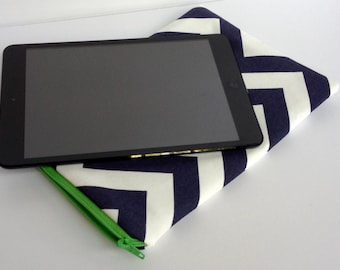 IPAD MINI Zippered Sleeve Cover - Design It Yourself - DIY - Choose your Chevron Color