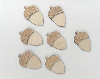 Acorn Cutout, Fall Cutouts, Fall Wood blanks, Blank Wood cutouts, Unfinished Wood Blanks, Wood Cut outs, Acorn Cut out
