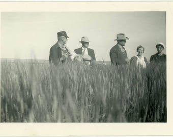 "Vintage Photo ""Fred's Farm Meeting"" Snapshot Antique Black & White Photograph Found Paper Ephemera Vernacular Interior Design Mood - 126"