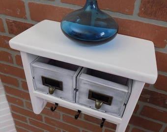 Small Shelf with Hooks / Entry / Bathroom / Hallway