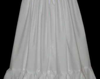 Childrens Plain Cotton Petticoat - Made to Measure