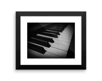 Black and White Piano Photography