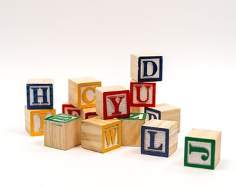 Wooden Alphabet Blocks | Alphabet Blocks | Toy Wood Blocks| ABC Blocks| Alphabet Blocks| Wood Blocks| Wood Alphabet Blocks| Wooden Blocks