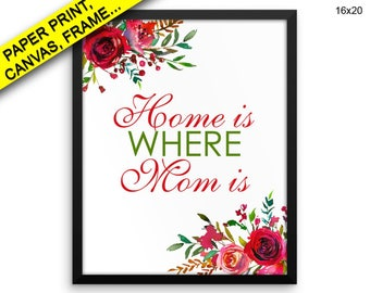 Home Is Where Mom Is Wall Art Framed Home Is Where Mom Is Canvas Print Home Is Where Mom Is Framed Wall Art Home Is Where Mom Is Poster
