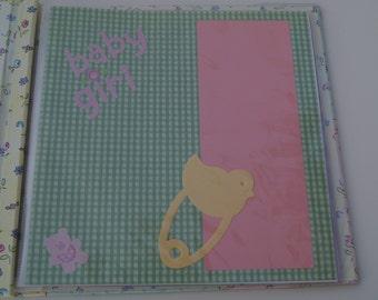 Baby Girl Pre-made Scrapbook