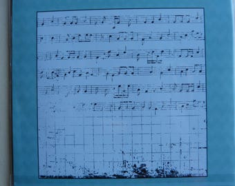 "Rubber stamp large format ""range of music"""