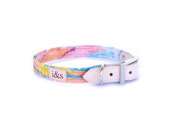 Dog Collar - Limited Edition Rose Gold Fibers - Orange