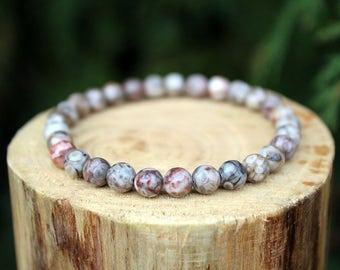 Fossil Crinoid Bracelet, Fossil Bracelet, Crinoid Bracelet, Brown Bead Bracelet, Gemstone Bracelet, Beaded Bracelet, Men's/Women's Bracelet
