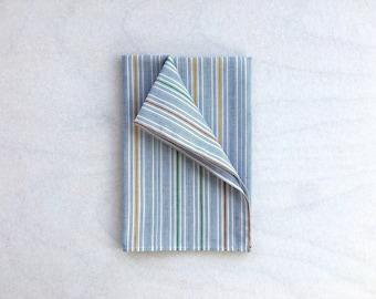 Blue Stripe Pocket Square