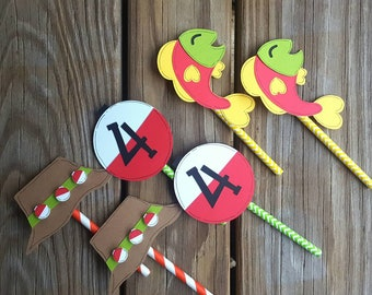 Fishing Cupcake Toppers