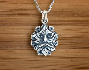 STERLING SILVER Little Green Man My ORIGINAL Charm Necklace or Earrings - Chain Optional