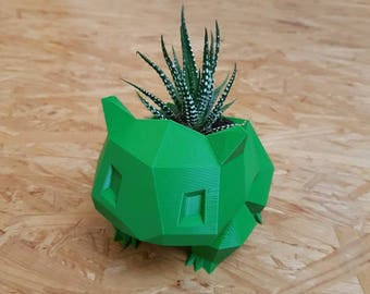 Pokemon plant pot, Bulbasaur planter, poly Pokemon, free Germany Shipping