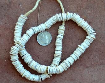 Ostrich Shell Beads: 10-12mm
