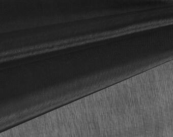 Black Organza Fabric by the Yard, Wedding Decoration Organza Fabric, Sheer Fabric - Style 1901