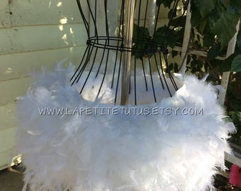 Adult cake smash feather tutu, edc, rave tutu, photo prop, feather skirt, mommy to be, hand sewn, maternity skirt, feather skirt, womens