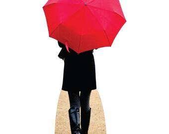 Paris Red Umbrella - Cardboard Cutout