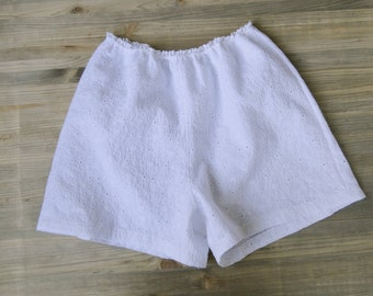 Organic cotton eyelet boyshorts - country chic