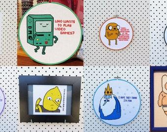 Any 3 Adventure Time Cross Stitch Patterns
