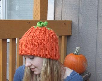 Pumpkin Hat *all sizes available*, baby pumpkin, adult pumpkin beanie, crochet pumpkin hat