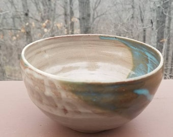 Handmade pottery bowl, ramen bowl, prep bowl, soup bowl, ice cream bowl, serving bowl, hold 3.5 cups, FREE SHIPPING