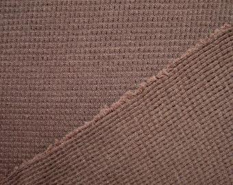 Organic Cotton Fabric Thermal Waffle Weave Knit