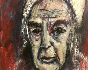 Figure Painting of Old Woman