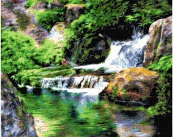 Water Reflections Cross Stitch Chart