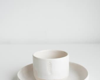 Ceramic set, Cup & Saucer hand thrown by JULY®
