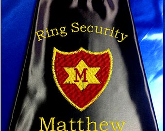 Super Hero Cape  Ring Bearer Super Shield Star Embroidered Ring Bearer Cape Personalized Wedding Photo Op