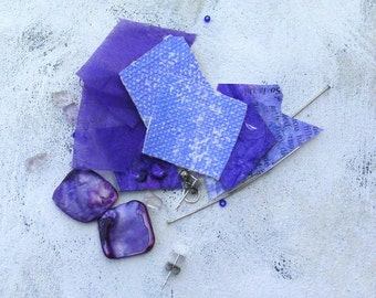 Purple DIY earring kit Parts of Art from upcycled palette in summer colors