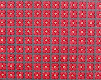 Set of 3 sheets of paper Decopatch flowers red roses gray background