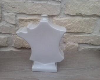 Vase map of France porcelain