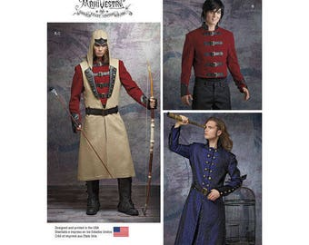 Assassin's Creed, Mens Costume Pattern, Steampunk Hood, Coat, Jacket, Vest, Couture ArkiVestry Anime Warrior Pattern, Gothic Rogue Warrior