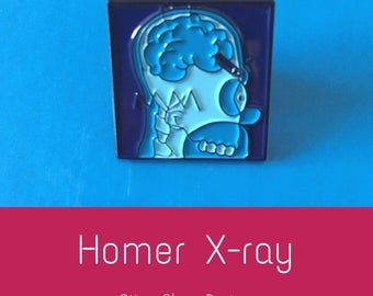 Homer Simpson X-ray crayon enamel pin badge simpsons