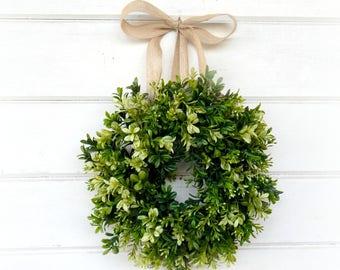 Mini Boxwood-Mini Window Wreath-Boxwood Wreath-Farmhouse Decor-Spring Wreath-Wall Decor-Home Decor-Housewarming Gift- Custom Scented Wreath