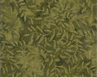 Designer Palette 0106 Olive Green by Batik Textiles Cotton Batik Fabric Yardage