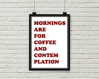 Mornings are for Coffee and Contemplation A5 Art Card Honey Bear Clothing Stranger Things