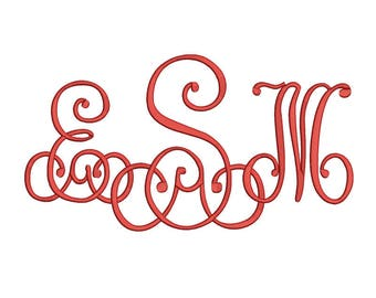 Lace Monogram Embroidery Font 4 Size Font Machine Embroidery Font Instant Download 9 Formats Embroidery Pattern PES and BX