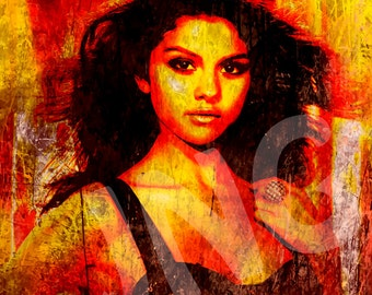 Selena Gomez 3 instant digital download art print picture grunge