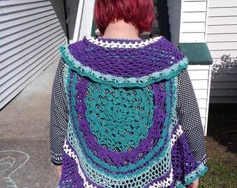 Lotus Mandela vest, crochet