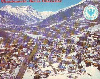 Vintage Chantemerle, France. Stamped Post Card. 1988