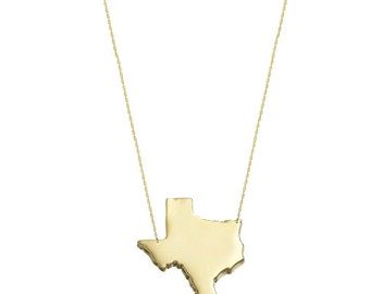 State Charm Necklace, State Jewelry, States Pendant necklace in 18k Yellow Gold Plated 925 sterling silver