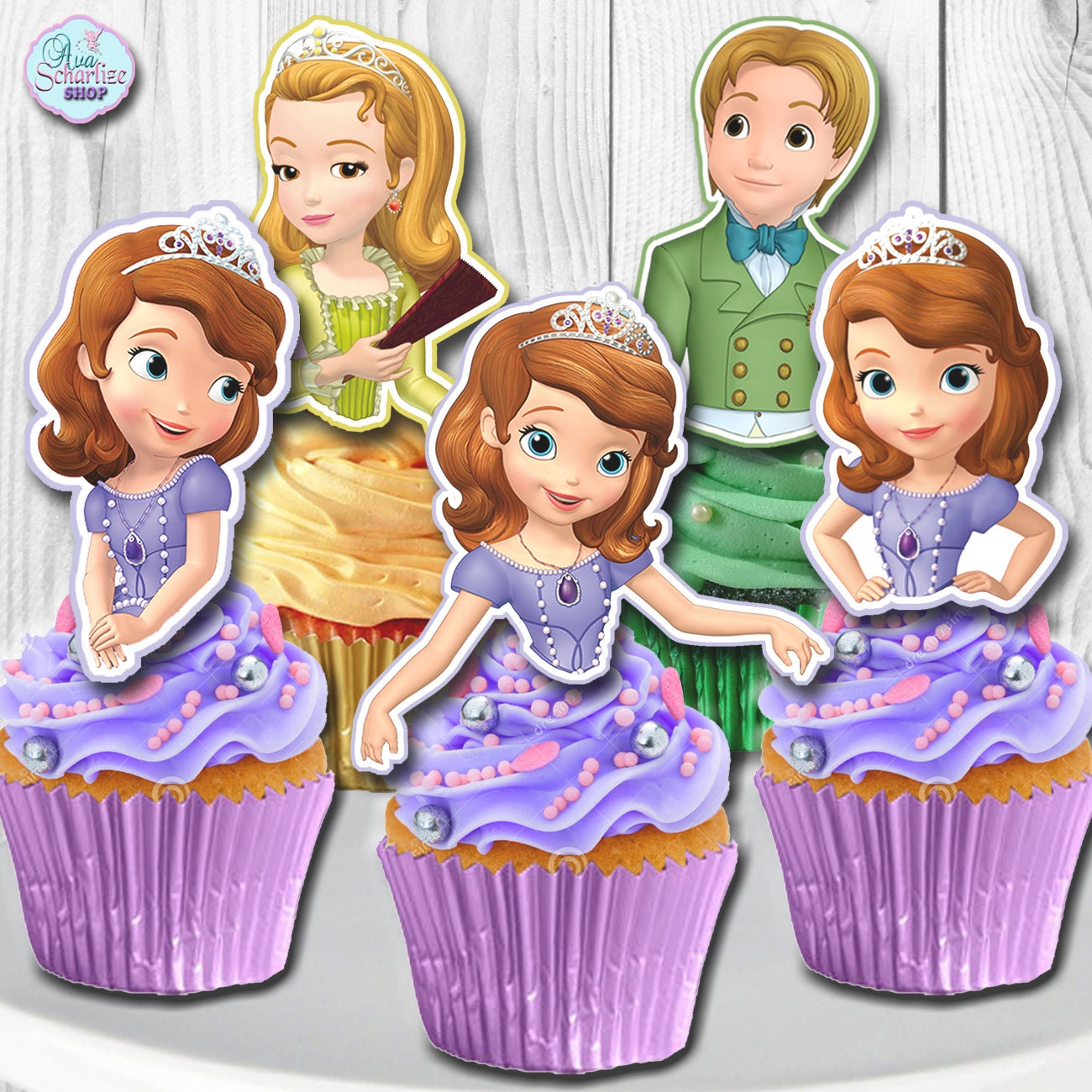 Sofia The First Cake Toppers Nz