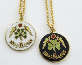 Luck of the Irish Charm Necklace in Gold