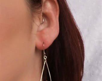 Paper bead earrings - dangle earrings - first anniversary gift - gifts for her - paper bead jewelry- lightweight earrings - boho earrings