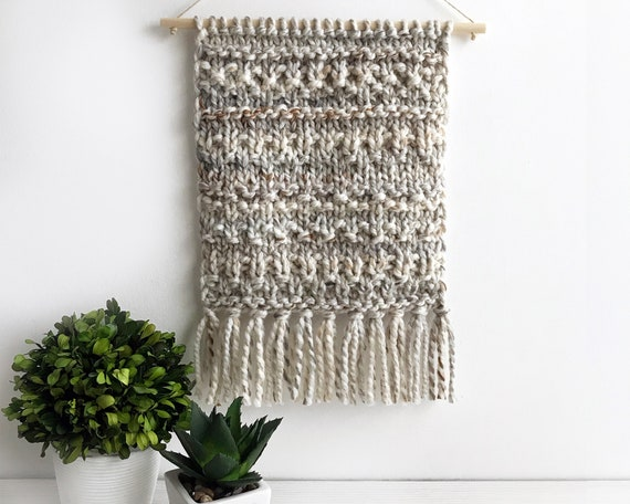 Wall Decor Art Knitted Wall Hanging Knit Macrame Tapestry