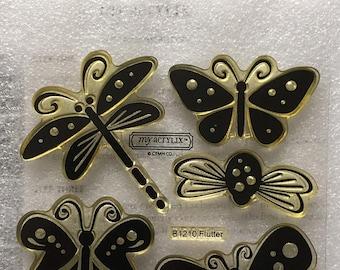 Flutter Acrylic Stamp Set