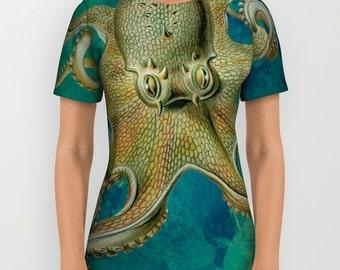 Octopus   Tee Shirt All Over Print