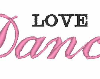 Love to Dance - Machine Embroidery Design