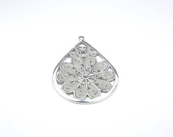 Drop BR744 - 1 large charm in silver